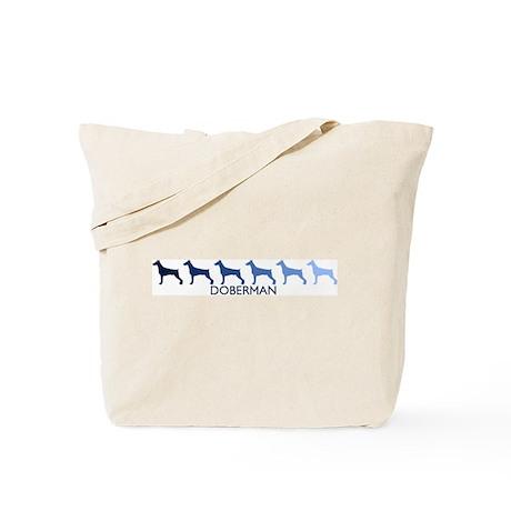Doberman (blue color spectrum Tote Bag