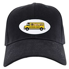 School Bus Kids Baseball Hat