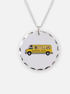 School Bus Kids Necklace