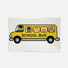 School Bus Kids Magnets