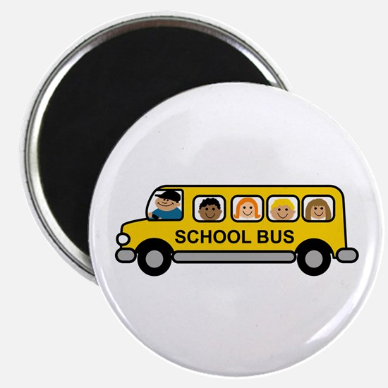 School Bus Kids Magnets