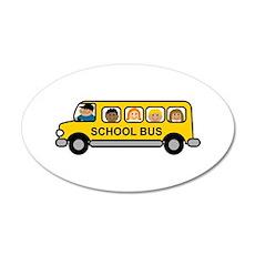 School Bus Kids Wall Decal