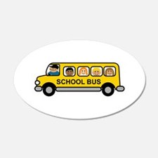 School Bus Kids Wall Decal