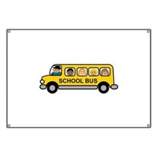 School Bus Kids Banner