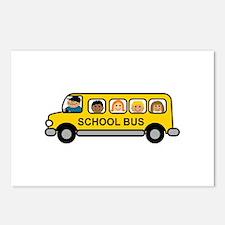 school bus postcards school bus post card design template. Black Bedroom Furniture Sets. Home Design Ideas