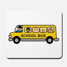 School Bus Kids Mousepad