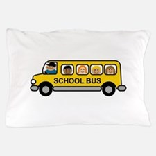 School Bus Kids Pillow Case