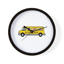 School Bus Kids Wall Clock