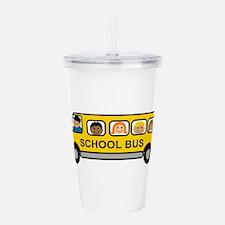 School Bus Kids Acrylic Double-wall Tumbler