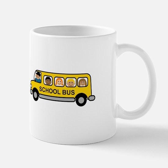 School Bus Kids Mugs