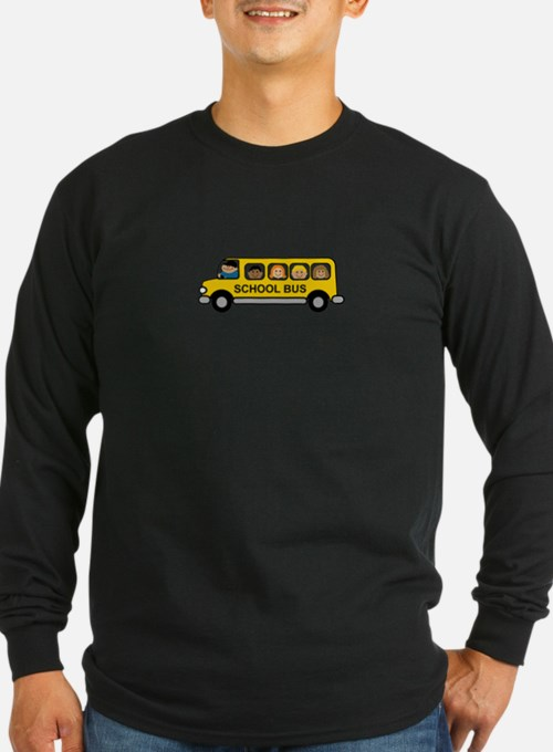 School Bus Kids Long Sleeve T-Shirt