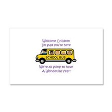 Welcome Childern Car Magnet 20 x 12