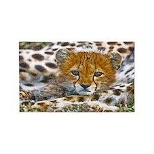 Cheetah Cub Area Rug