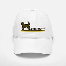 Otterhound (retro-blue) Baseball Baseball Cap