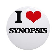 I love Synopsis Ornament (Round)