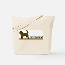 Otterhound (retro-blue) Tote Bag