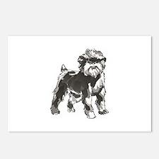 AFFENPINSCHER DOG Postcards (Package of 8)