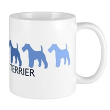 Wire Fox Terrier (blue color  Mug