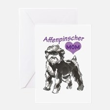 AFFENPINSCHER MOM Greeting Cards