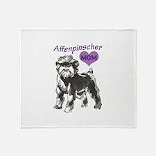 AFFENPINSCHER MOM Throw Blanket