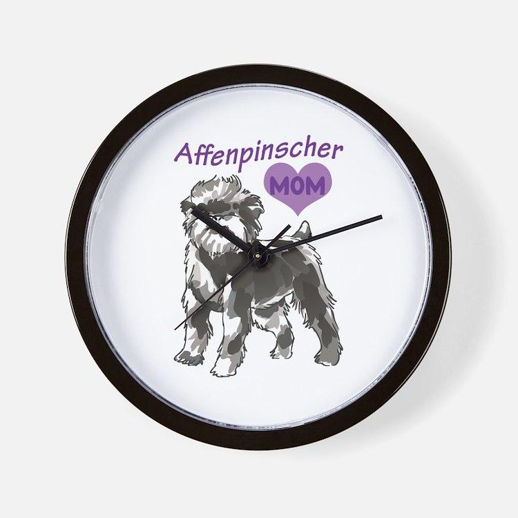 AFFENPINSCHER MOM Wall Clock