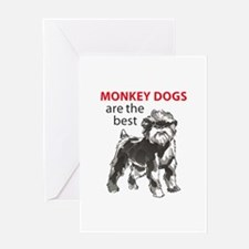 MONKEY DOGS Greeting Cards