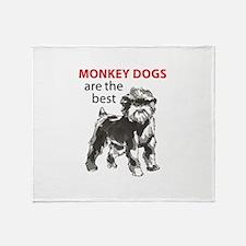 MONKEY DOGS Throw Blanket