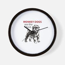 MONKEY DOGS Wall Clock