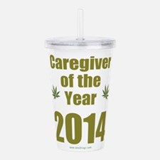 Caregiver of the year Acrylic Double-wall Tumbler