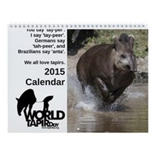 2015 World Tapir Day Wall Calendar