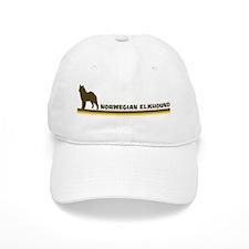 Norwegian Elkhound (retro-blu Baseball Cap