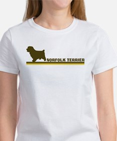 Norfolk Terrier (retro-blue) Women's T-Shirt