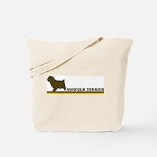 Norfolk Terrier (retro-blue) Tote Bag