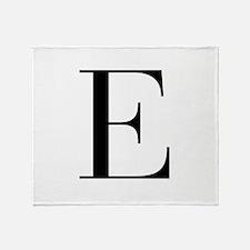 E-bod black Throw Blanket