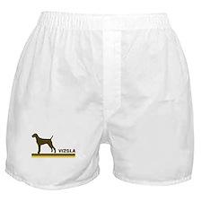 Vizsla (retro-blue) Boxer Shorts