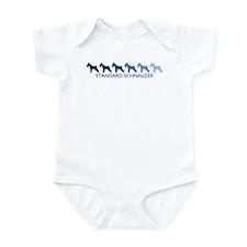 Standard Schnauzer (blue colo Infant Bodysuit
