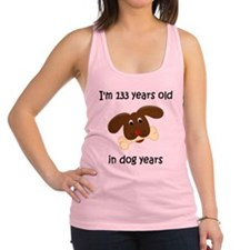19 dog years 4 Racerback Tank Top