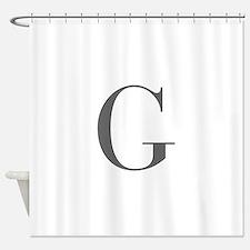 G-bod gray Shower Curtain