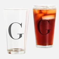 G-bod gray Drinking Glass