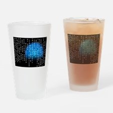 Binary Rain Drinking Glass
