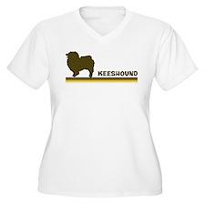 Keeshound (retro-blue) T-Shirt