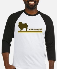 Keeshound (retro-blue) Baseball Jersey