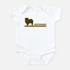 Keeshound (retro-blue) Infant Bodysuit