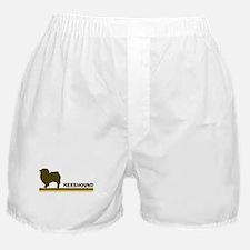 Keeshound (retro-blue) Boxer Shorts
