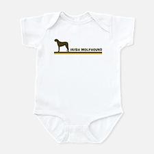 Irish Wolfhound (retro-blue) Infant Bodysuit