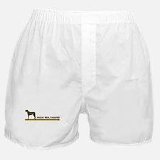 Irish Wolfhound (retro-blue) Boxer Shorts