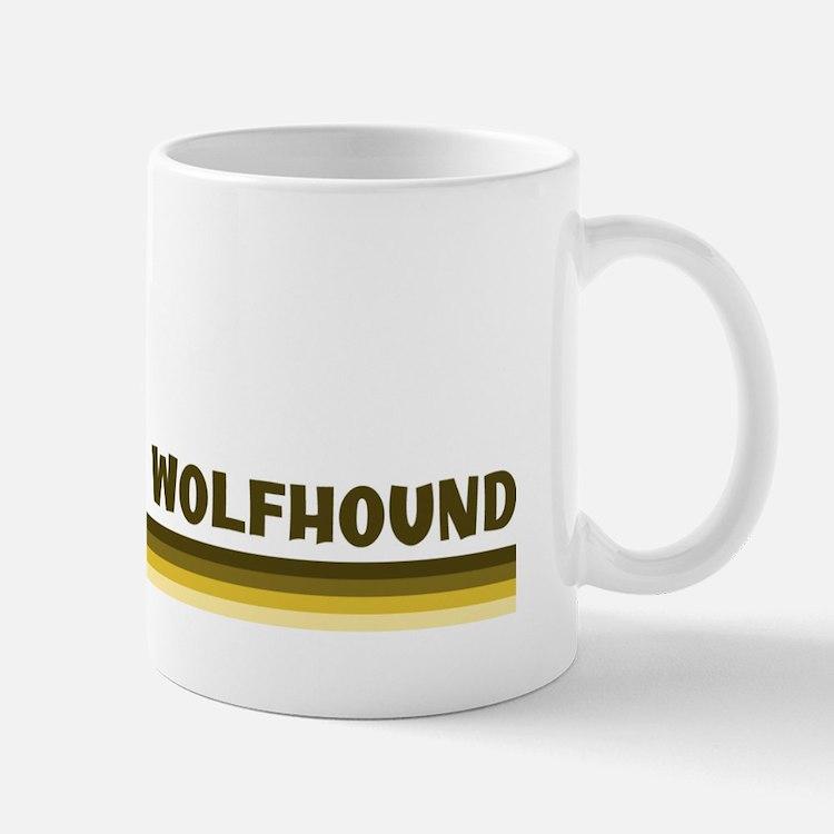 Irish Wolfhound (retro-blue) Mug