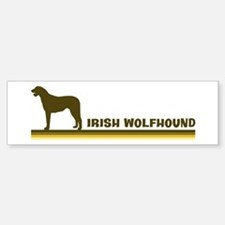 Irish Wolfhound (retro-blue) Bumper Bumper Bumper Sticker