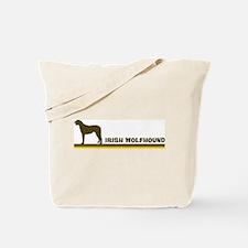 Irish Wolfhound (retro-blue) Tote Bag
