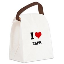 I love Tape Canvas Lunch Bag